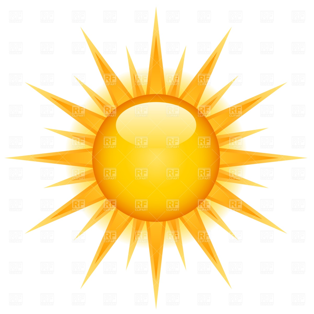 Free vector sun clipart 2