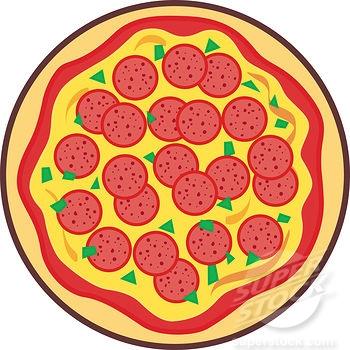 Full pizza clipart