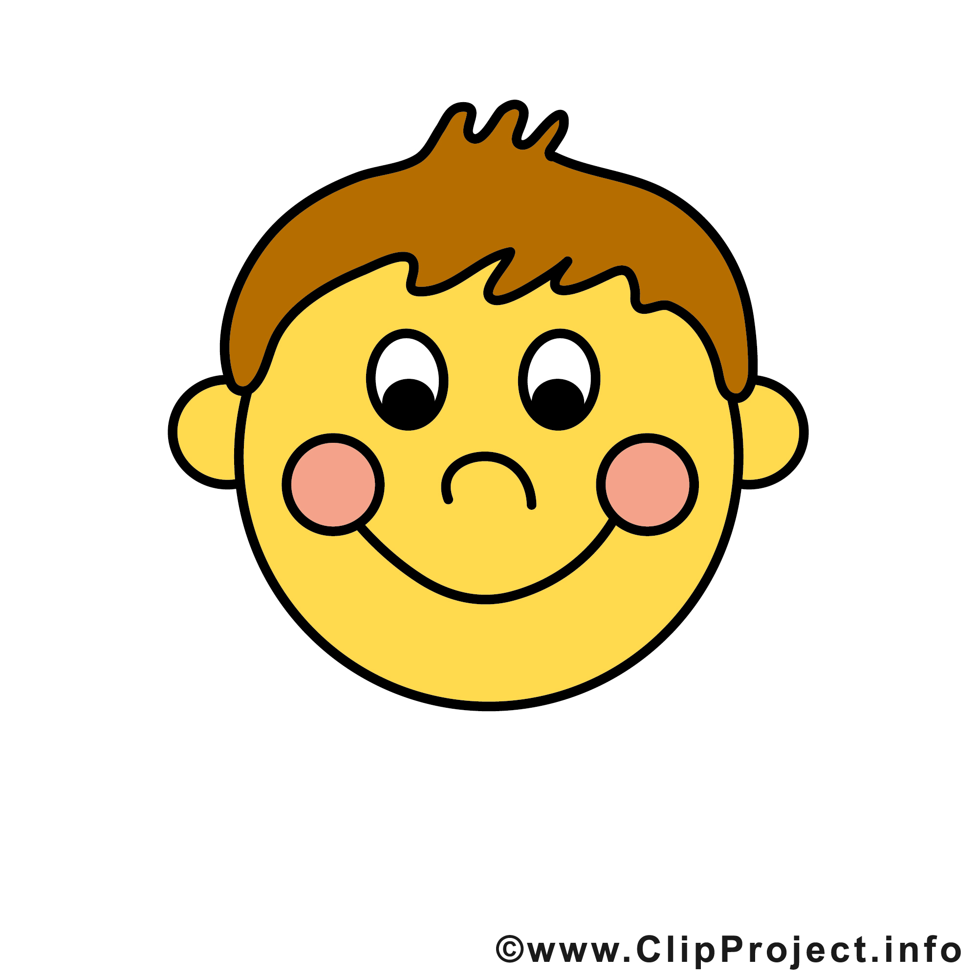 Funny smile clipart