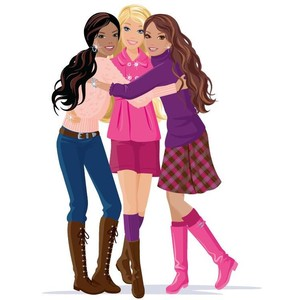 Girlfriends clipart 6