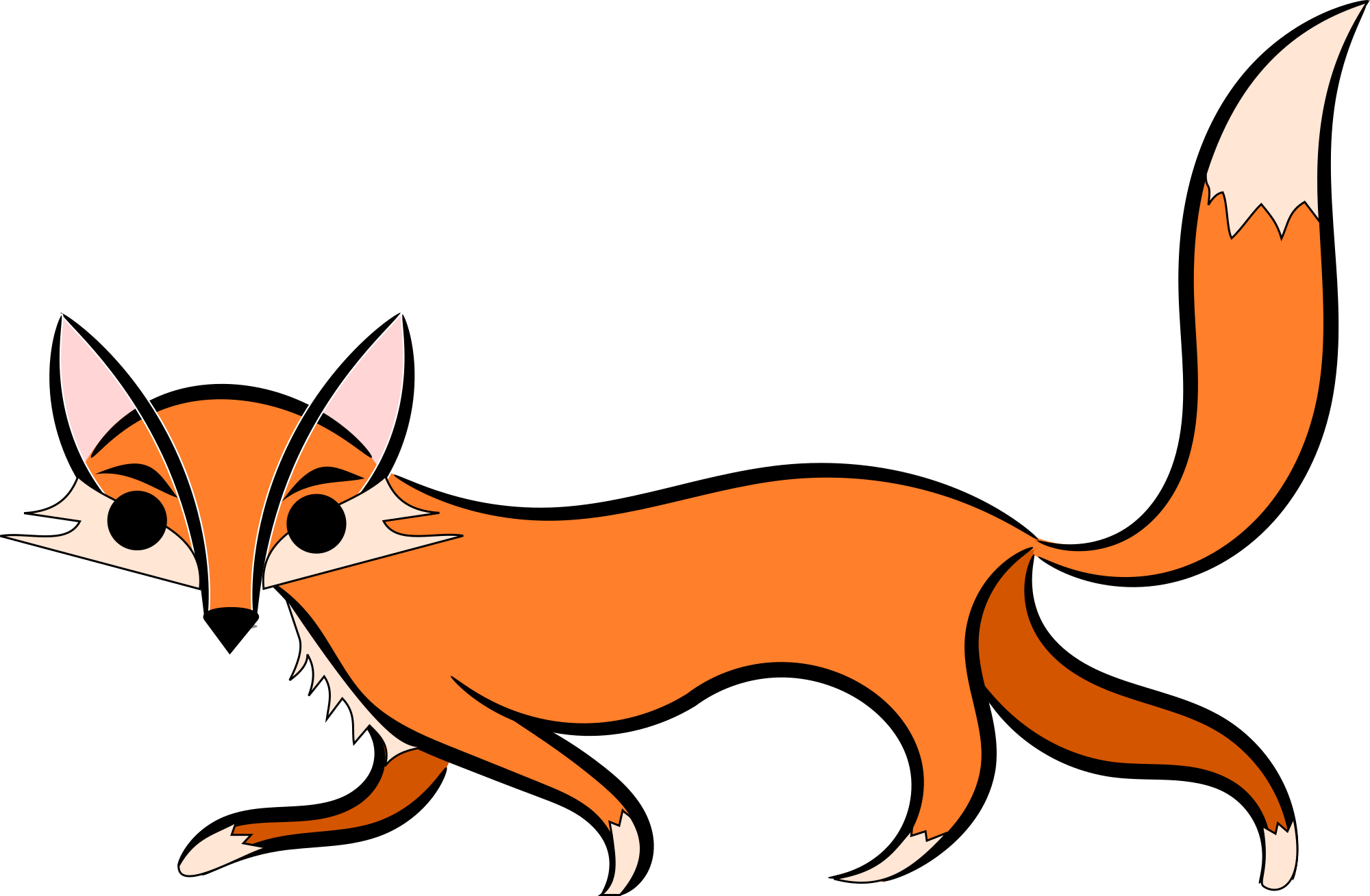 Girls red fox clipart the cliparts