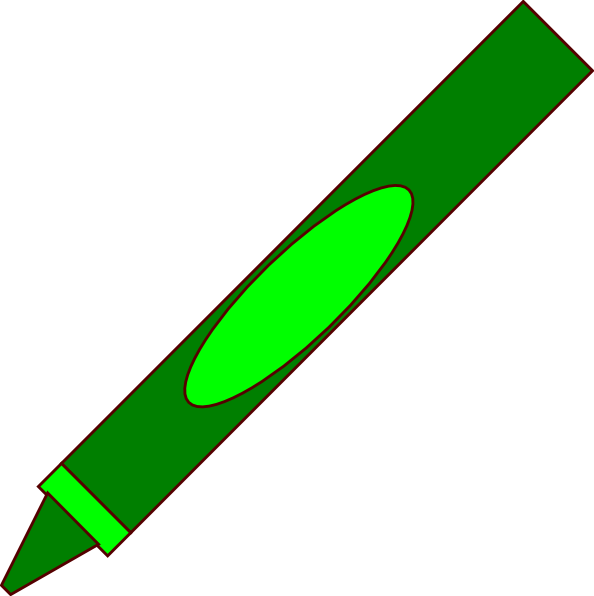 Green crayon clipart 2