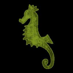 Green seahorse clipart 2