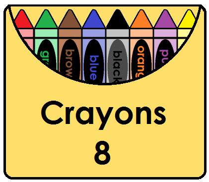 Grey crayon clipart