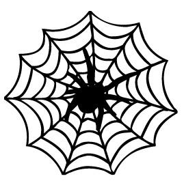 Halloween spider web clipart