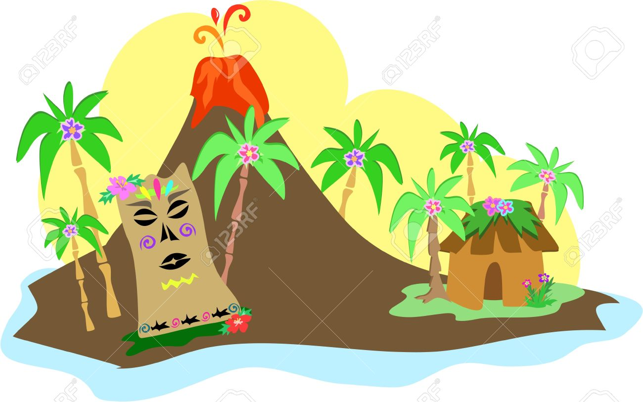 Hawaiian hawaii volcano clipart