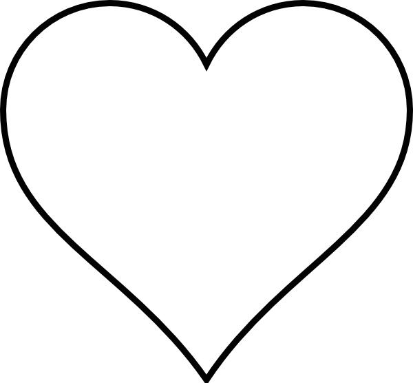 Heart outline black outline heart clip art at vector clip art