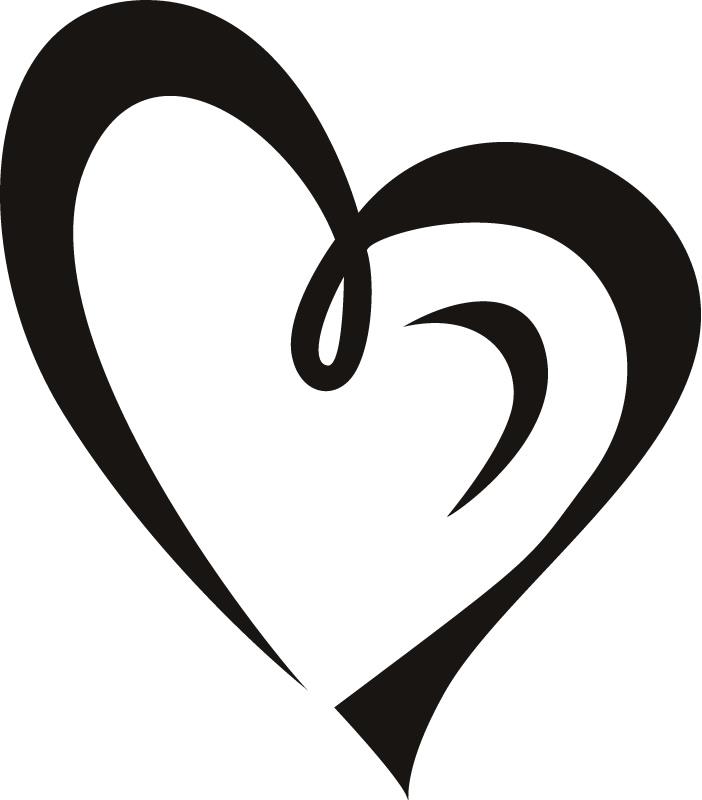 Heart outline heart clipart fancy outline