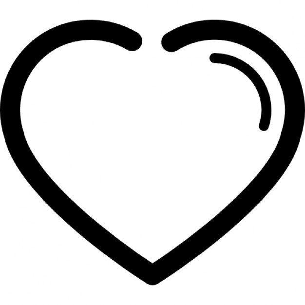 Heart outline shape icons free download