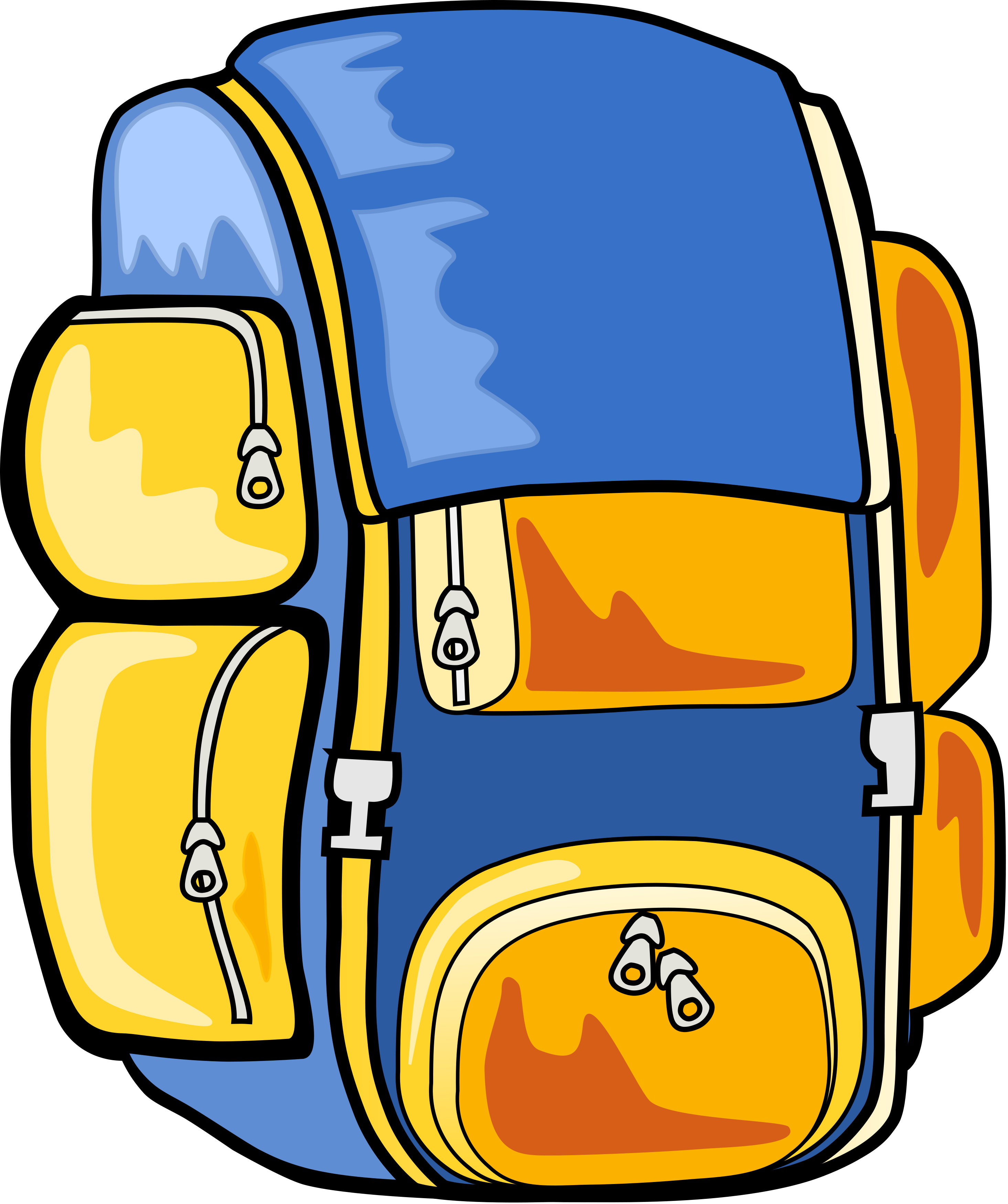 Hiking backpack clipart free images