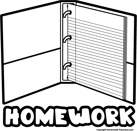 Homework clipart black and white free images