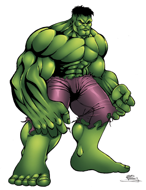 Hulk clip art 4
