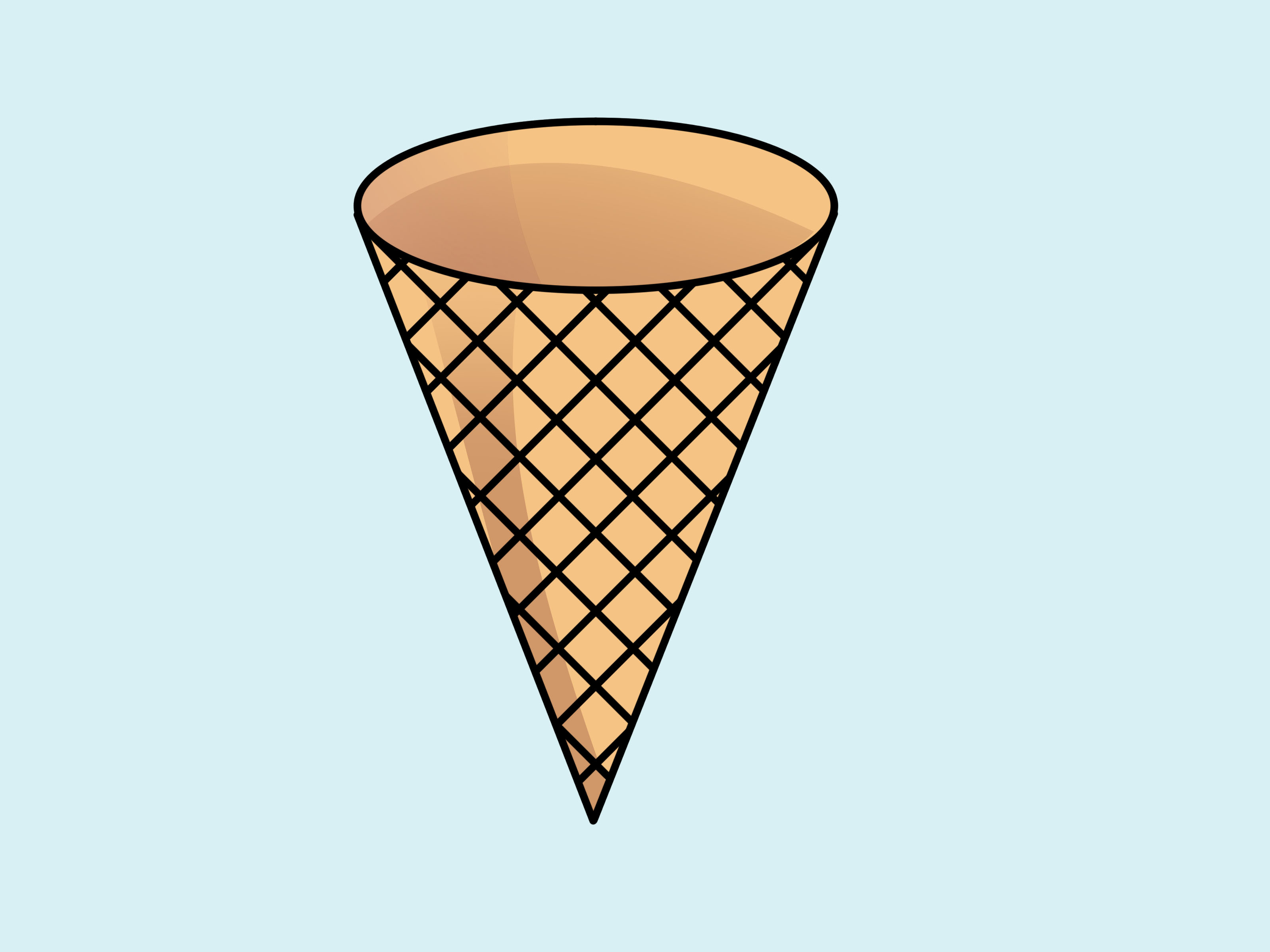 Ice cream cone clip art 8