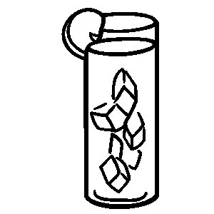 Iced tea clipart black and white