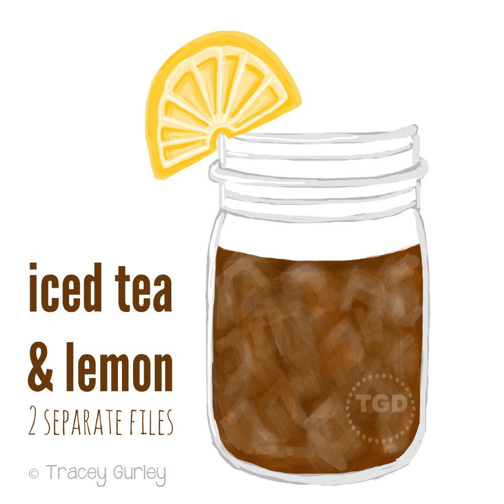 Iced tea clipart mason jar 4