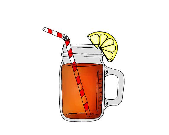 Iced tea clipart mason jar