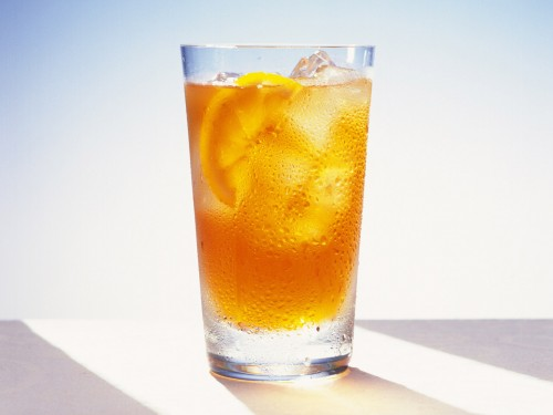 Iced tea lemon ice tea screensaver clipart