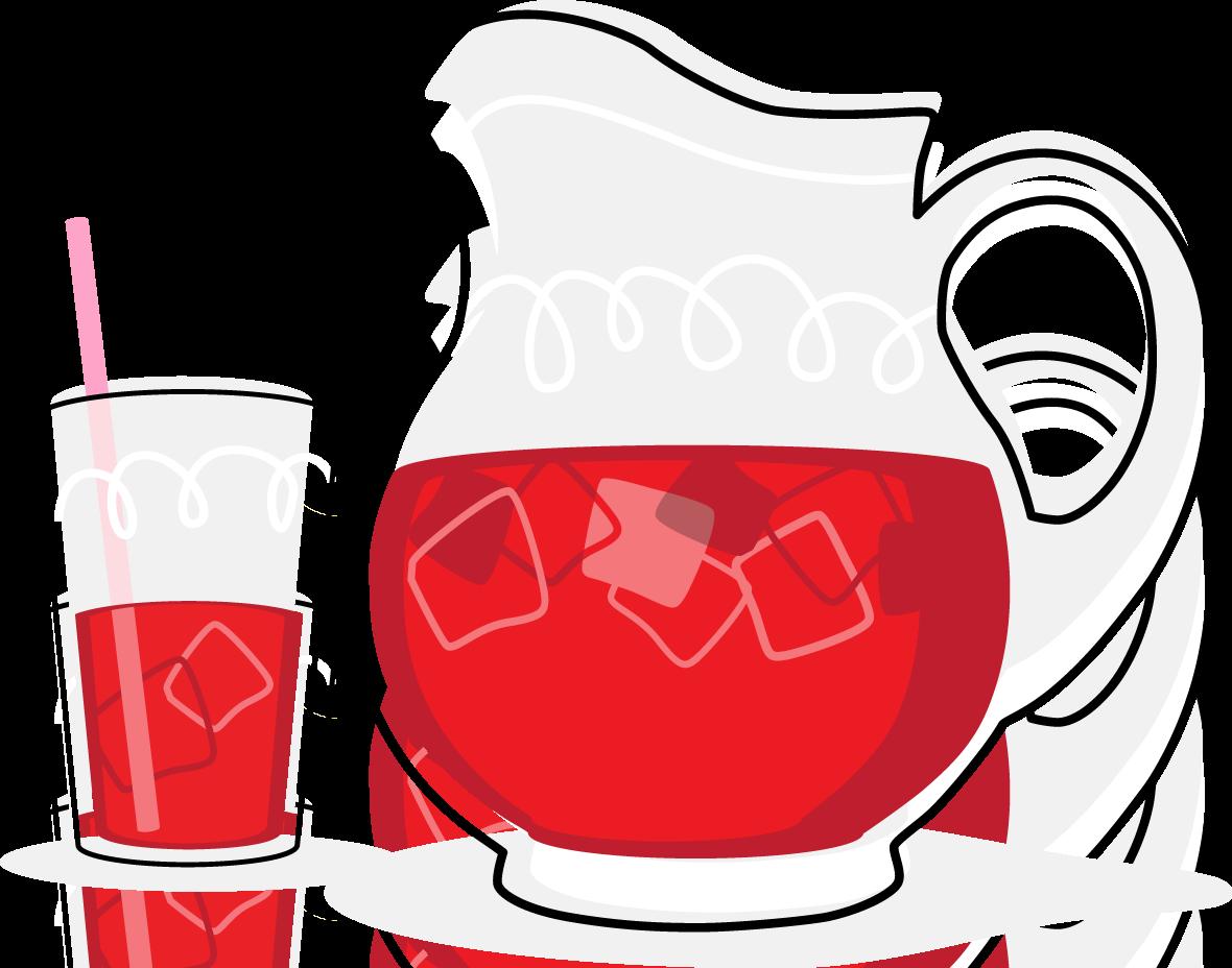 Iced tea lemonade and tea water clipart