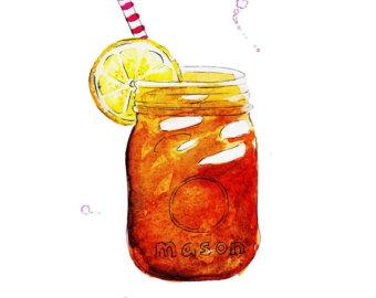 Iced tea sweet tea clipart