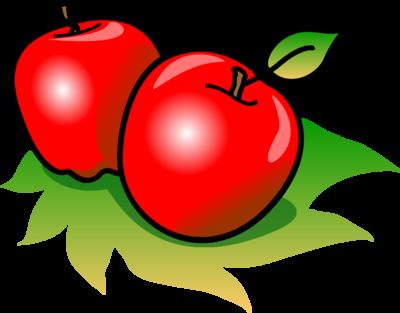 Image apples food clip art