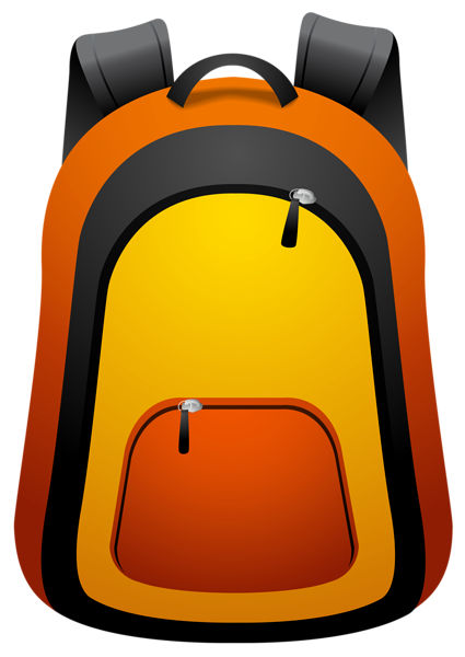 Kid with backpack clipart free images
