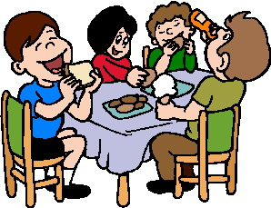Kids lunch clipart together clipart