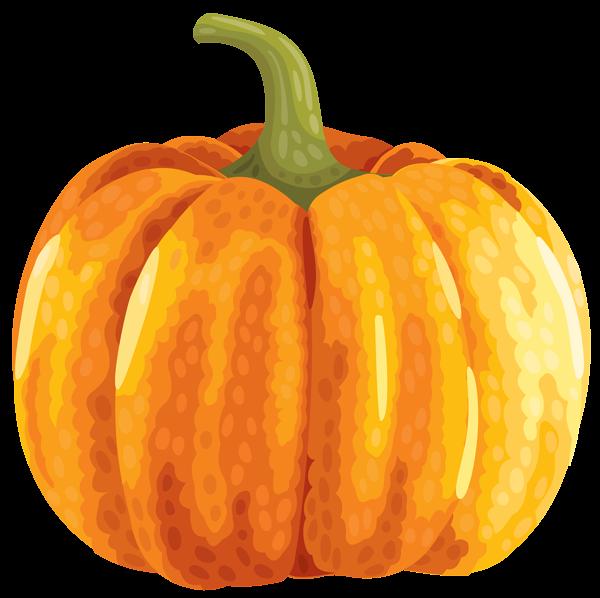 Large autumn pumpkin clipart image