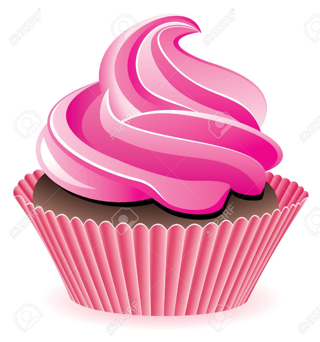 Light pink cupcake clipart