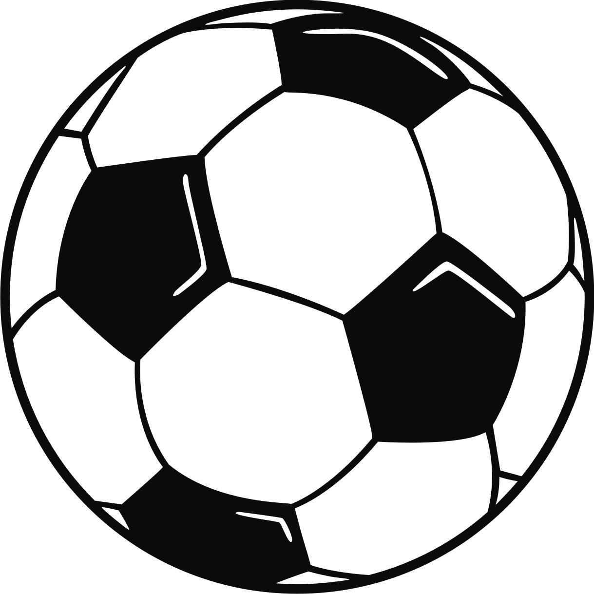 Lightening football outline ball clipart