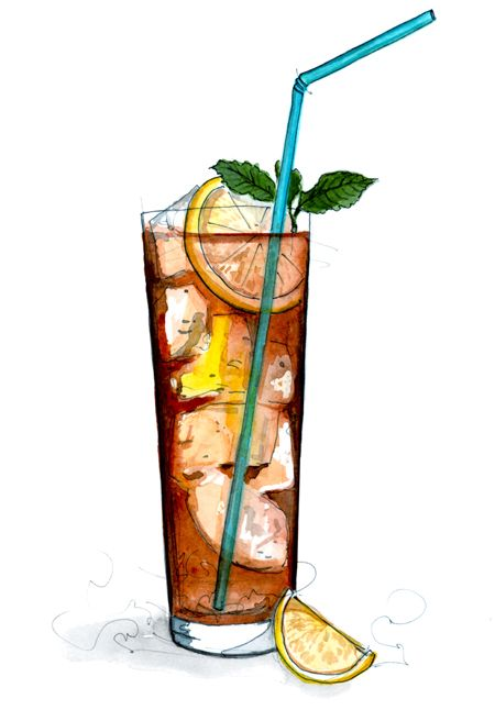 Long island iced tea clipart