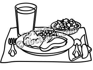Lunch dinner clipart free images 2