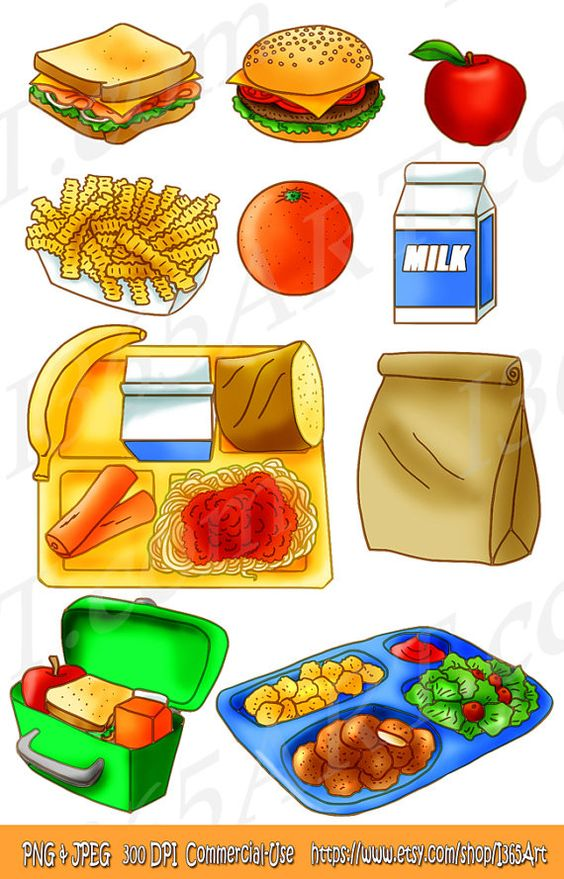 Lunch food clipart