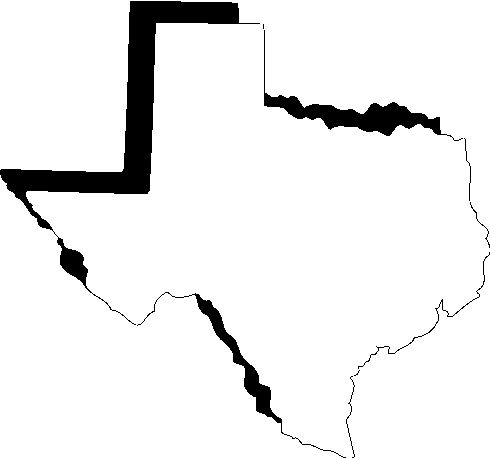 Map of texas outline clipart