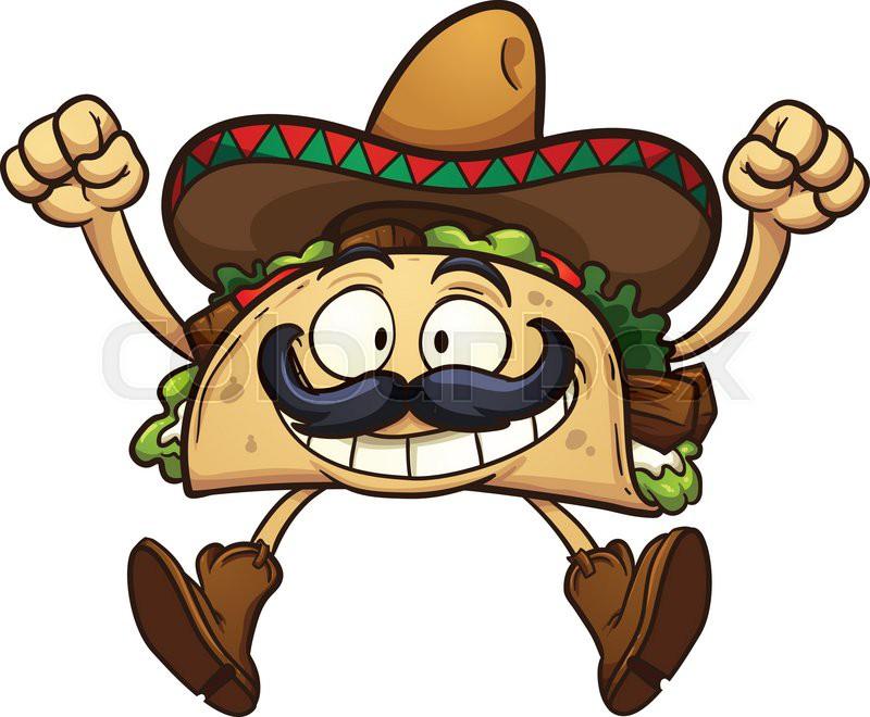 Mexican tacos clipart