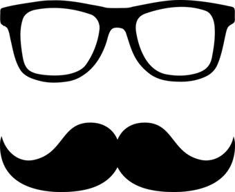Nerd glasses clip art