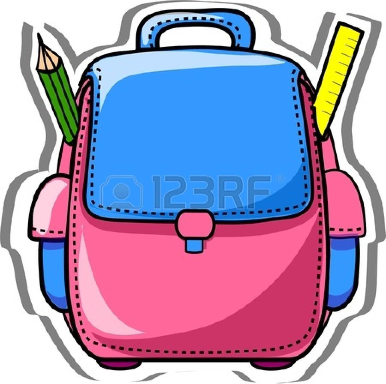 Open backpack school clipart