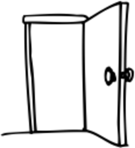 Open door clipart free images