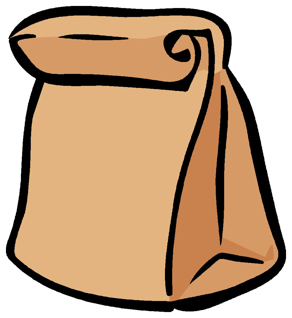 Paper bag lunch clipart