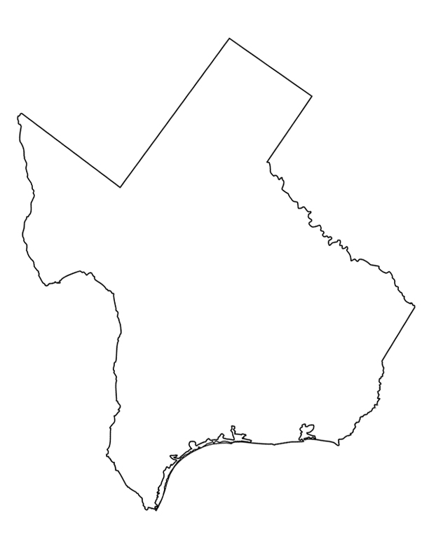 Photos of texas outline template state shape