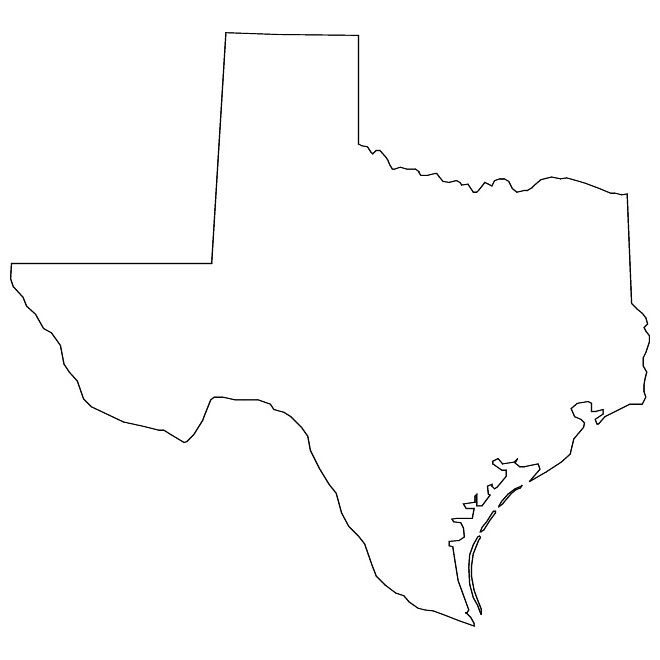 Photos of texas outline vector state