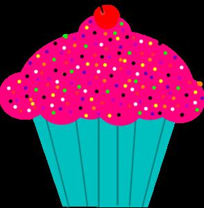 Pink cupcake clipart