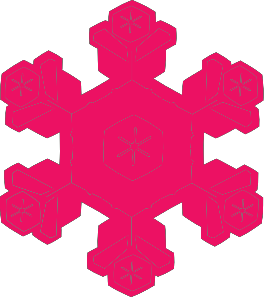 Pink snowflake clipart free images