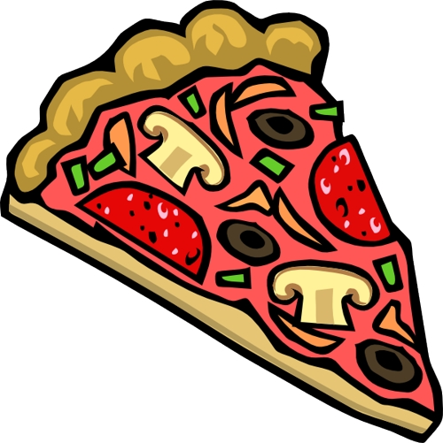 Pizza clipart black and white free images 3