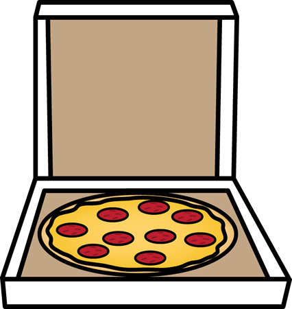 Pizza in a clipart