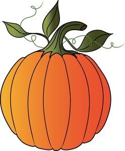 Pumpkin clip art outline free clipart images 2