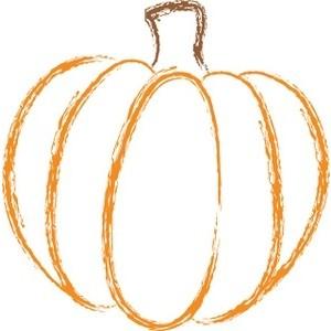 Pumpkin clipart outline