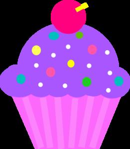 Purple cupcake clipart
