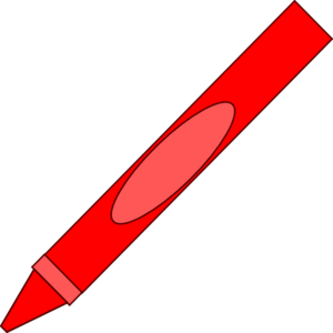 Red crayon clipart 2