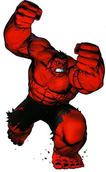 Red hulk clip art wesomeness hero clip art