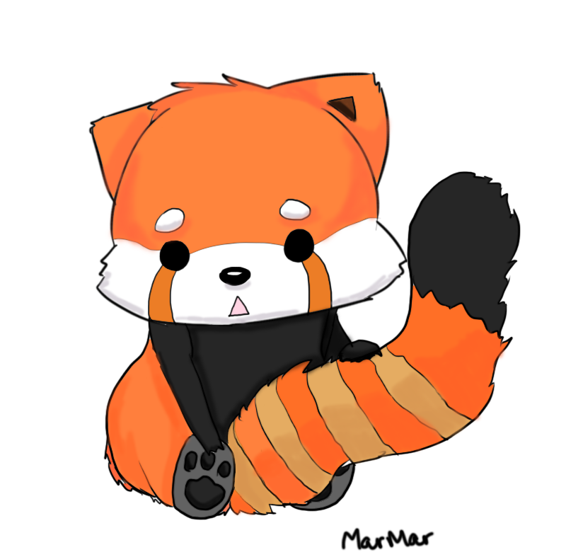 Red panda cartoon free clipart images